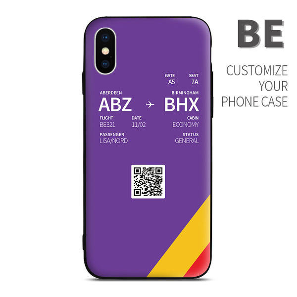 FlyBe BE color Boarding Pass Phone Case design perfect for aviation geeks crew pilot apple iphone huawei samsung xiaomi