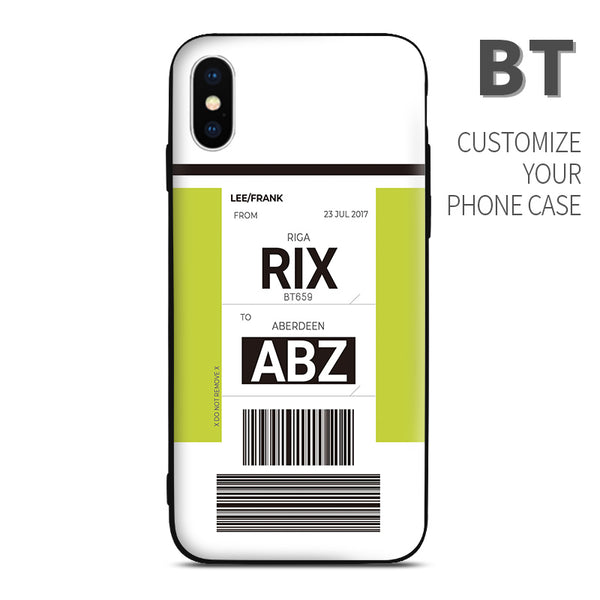 Air Batic BT color Baggage Ticket design perfect for aviation geeks crew pilot apple iphone huawei samsung xiaomi