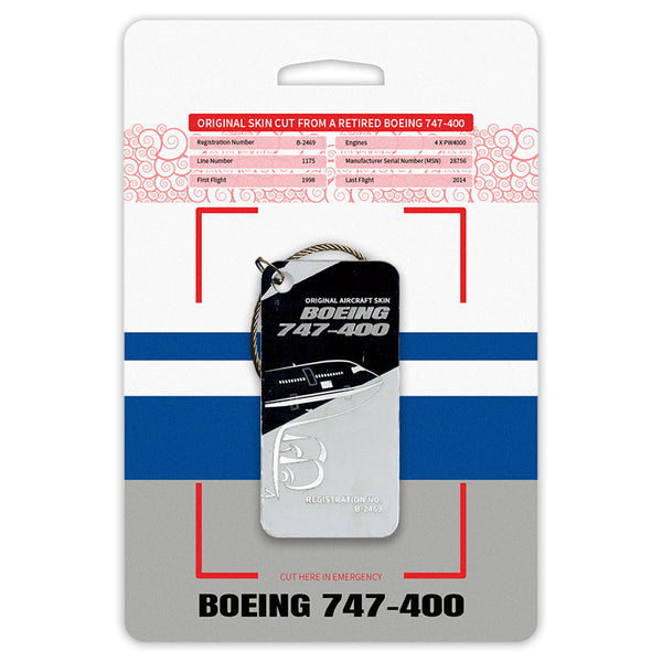 Boeing 747 B-2469 Original Aircraft Tag Grey-Black