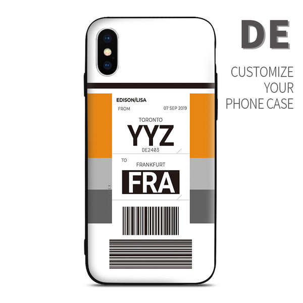 DE Condor Thomas Cook  color Baggage Ticket design perfect for aviation geeks crew pilot apple iphone huawei samsung xiaomi