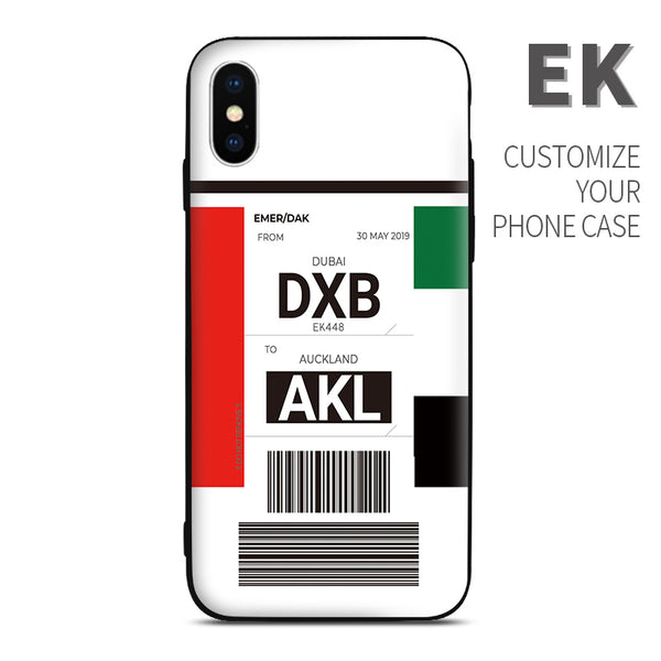 EK  Emirates Airlines color Baggage Ticket design perfect for aviation geeks crew pilot apple iphone huawei samsung xiaomi