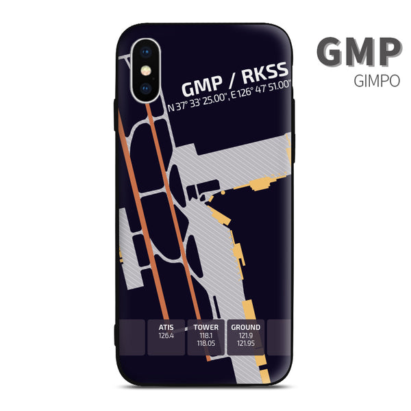 Seoul Gimpo GMP RKSS Airport Diagram Phone Case Aviation gift crew airline pilot iphone avgeek apple samsung huawei xiaomi iPhone