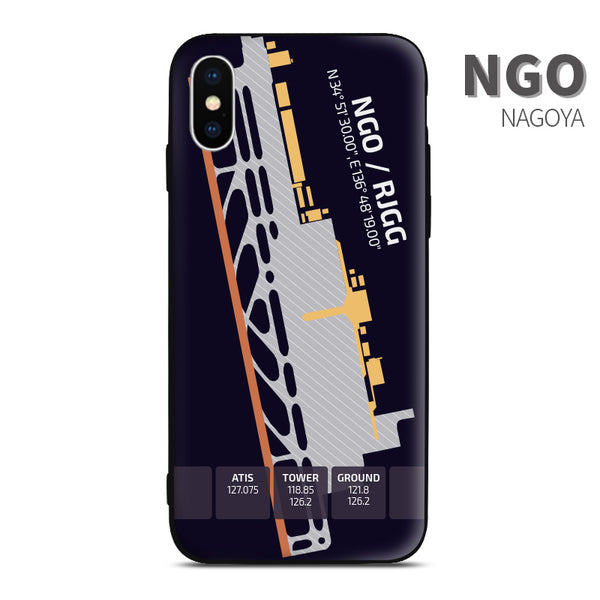 Nagoya NGO Airport Diagram Phone Case Aviation gift crew airline pilot iphone avgeek apple samsung huawei xiaomi iPhone