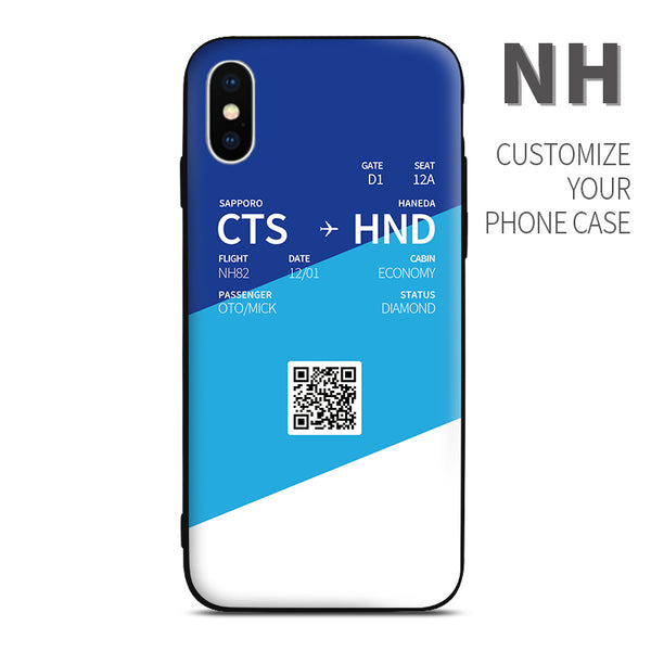 ANA All Nippon Airways NH color Boarding Pass Phone Case design perfect for aviation geeks crew pilot apple iphone huawei samsung xiaomi