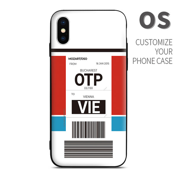 OS Austrian Airlines color Baggage Ticket design perfect for aviation geeks crew pilot apple iphone huawei samsung xiaomi