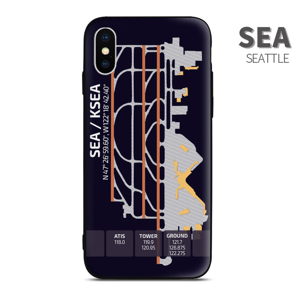 Seattle SEA KSEA United States Airport Diagram Phone Case  aviation gift pilot iPhone Andriod Apple Samsung
