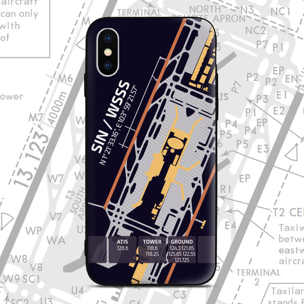Singapore SIN WSSS Airport Diagram Phone Case Aviation gift crew airline pilot iphone avgeek apple samsung huawei xiaomi iPhone