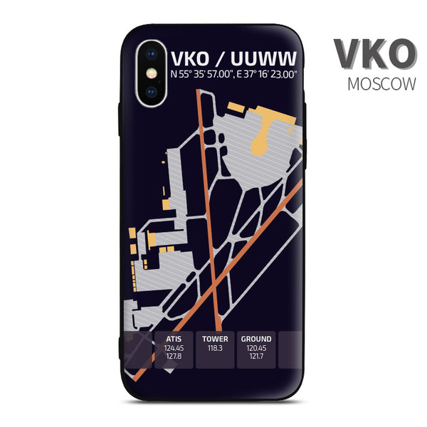 Moscow Vnukovo airport diagram phon case iphone apple samsung huawei xiaomi aviaiton gift for crew pilots avgeeks