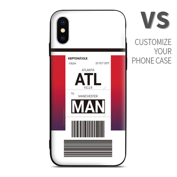 VS Virgin Atlantic color Baggage Ticket design perfect for aviation geeks crew pilot apple iphone huawei samsung xiaomi