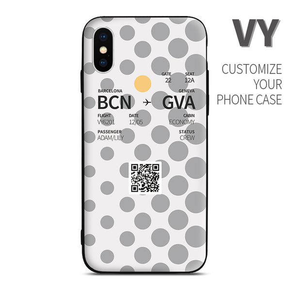 VY Boarding Pass Customized Phone Case
