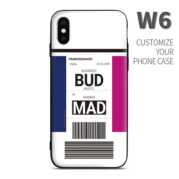 W6 Wizz Air color Baggage Ticket design perfect for aviation geeks crew pilot apple iphone huawei samsung xiaomi