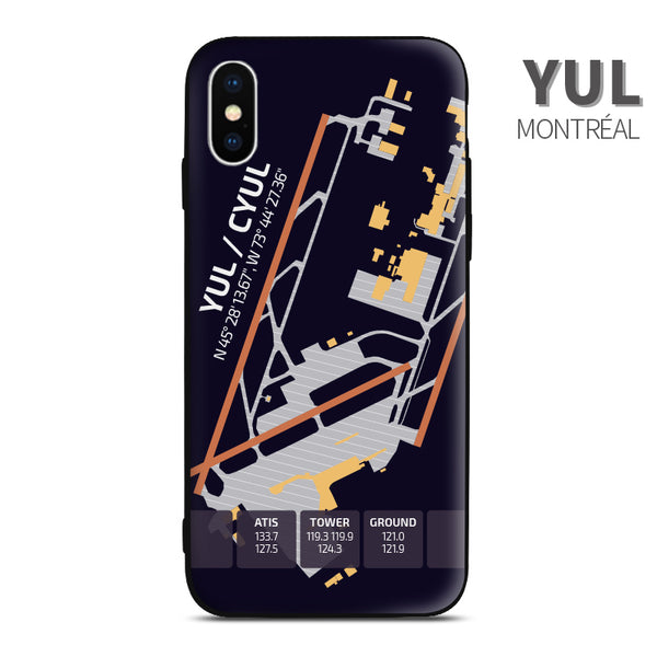 Montreal YUL Airport Diagram Phone Case aviation gift pilot iPhone Andriod Apple Samsung Huawei Xiaomi