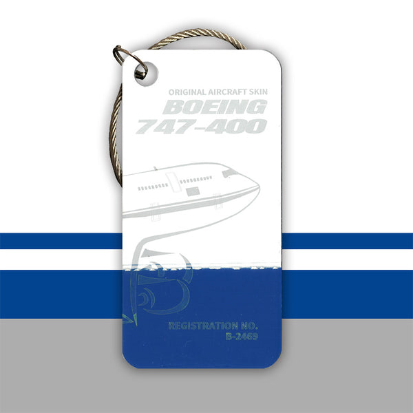Boeing 747 B-2469 Original Aircraft Tag Blue-White