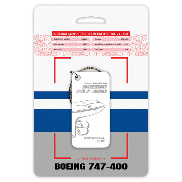 Boeing 747 B-2469 Original Aircraft Tag White