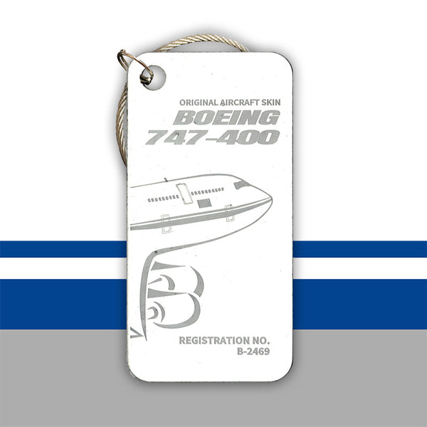 Air China Boeing 747 B-2469 luggage tag key chain original aircraft skin aviationtag planetags plane aviation