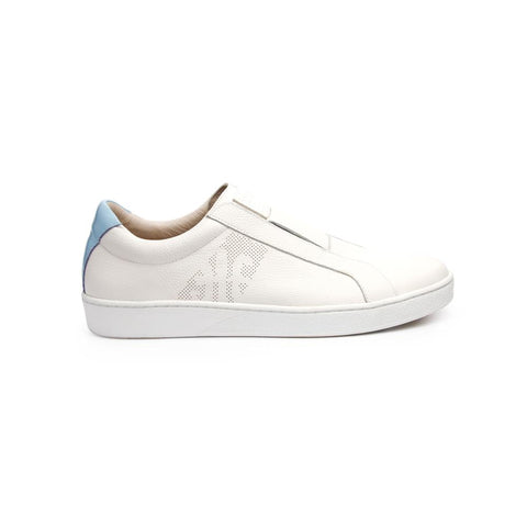 Men's Bishop Classic White/Blue 01791-005<br />メンズ 白 青 レザースニーカー