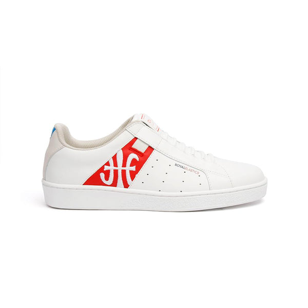 Men's ICON Genesis Chunk White/Red/Blue 01992-013<br />メンズ 白 赤 青 レザースニーカー