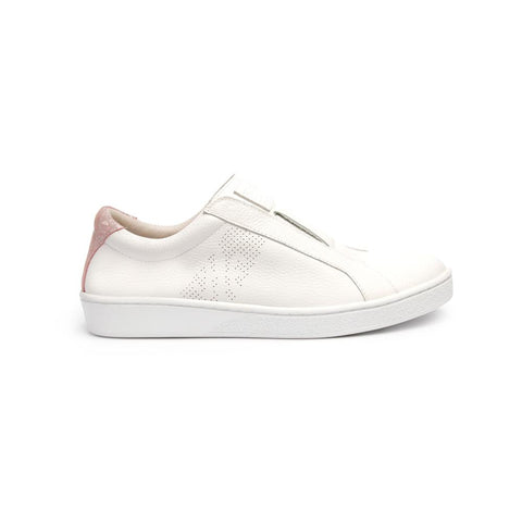 Ladies' Bishop Classic White/Pink 91791-001<br />レディース 白 ピンク レザースニーカー