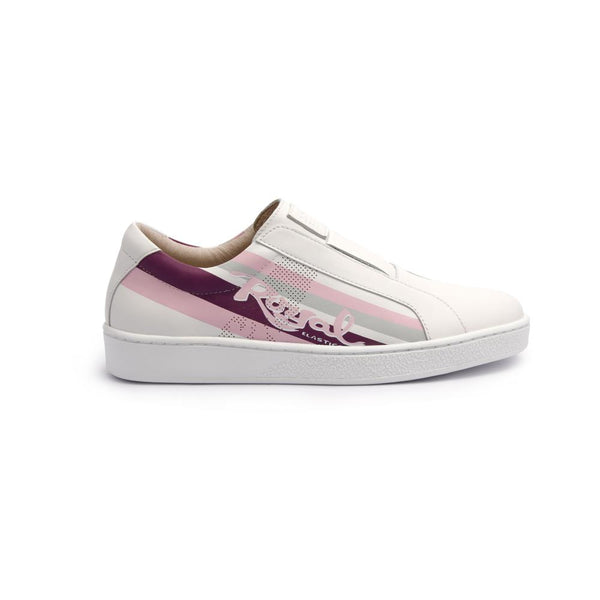 Ladies' Bishop Color Line White/Pink/Purple 91791-016<br />レディース 白 ピンク 紫 レザースニーカー