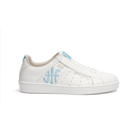 Ladies' ICON Genesis Bubble Gum White/Blue 91992-500<br />レディース 白 青 レザースニーカー