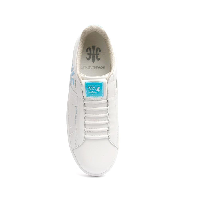 レディース レザースニーカー 白 青<br />Ladies' ICON Genesis Bubble Gum White/Blue 91992-500