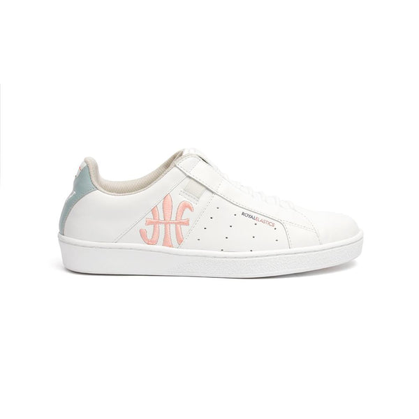Ladies' ICON Genesis Crown White/Pink/Blue 91992-501<br />レディース 白 ピンク 青 レザースニーカー