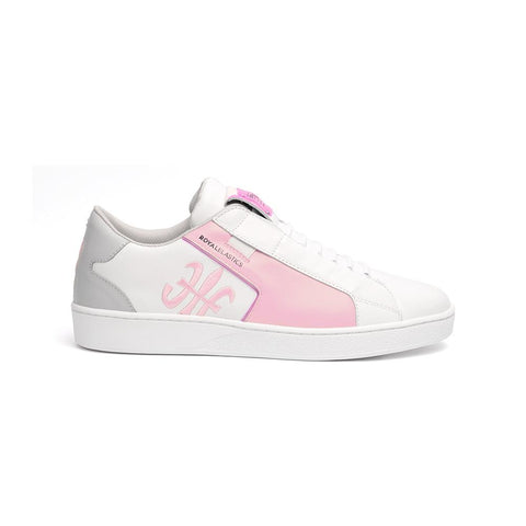 Ladies' ADELAIDE White/Pink 92692-016<br />レディース 白 ピンク レザースニーカー