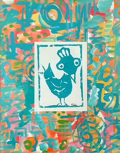 Chicken Monoprint