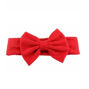 Tiny Red Bow Headband