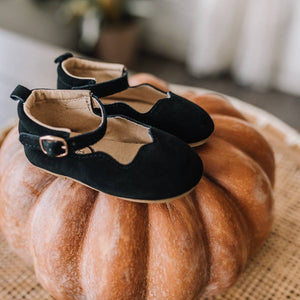 Little Love Bug Company - Black Suede Olivia Moccasin 1