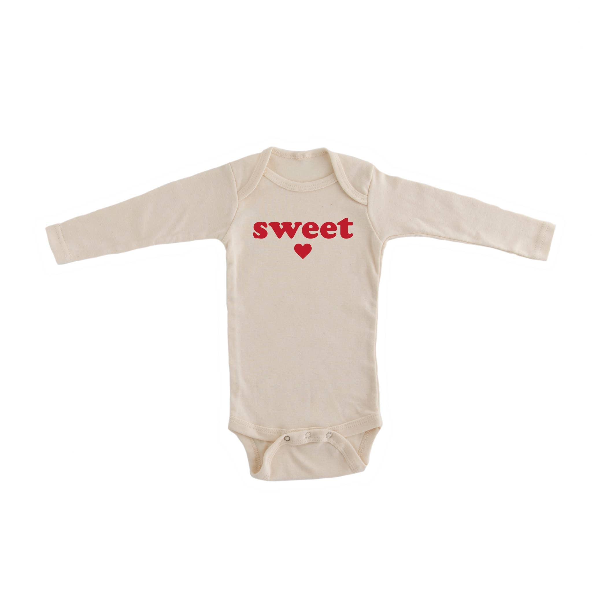 Little Faces Apparel - Red Sweetheart Organic Bodysuit