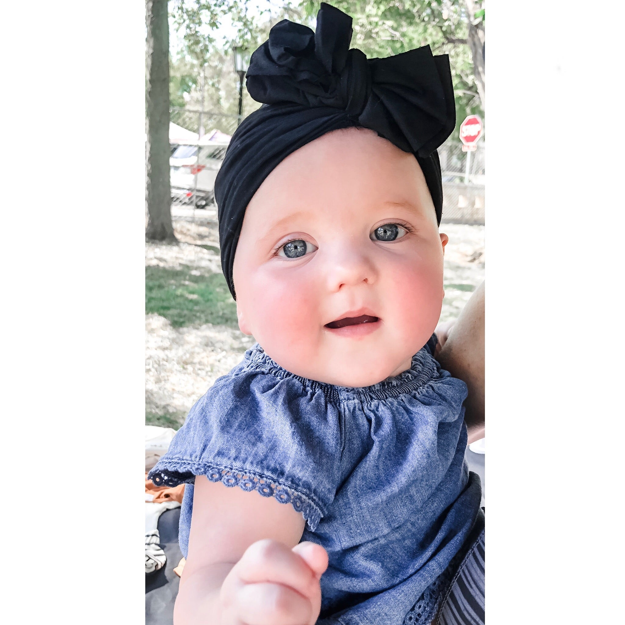 The Bow Turban Black