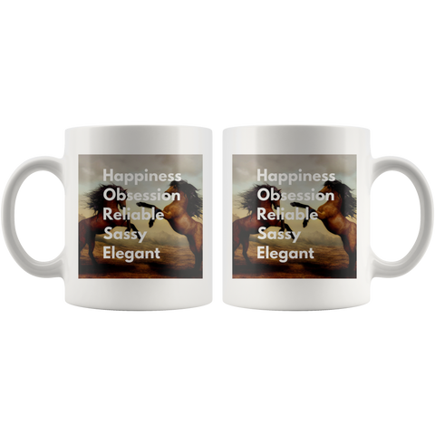 Inspirational Gift For Horse Lover Coffee Mug