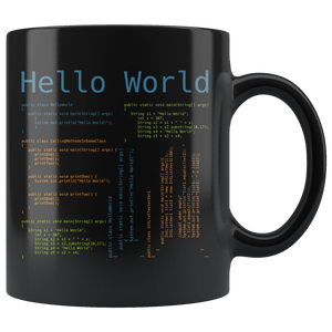Hello World Computer Programmer Coding Coffee Mug