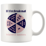 The IT Professional Wheel of Answers Funny Coffee Mug
