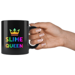 Slime Queen For Girls Rainbow Colored Slime Black Mug