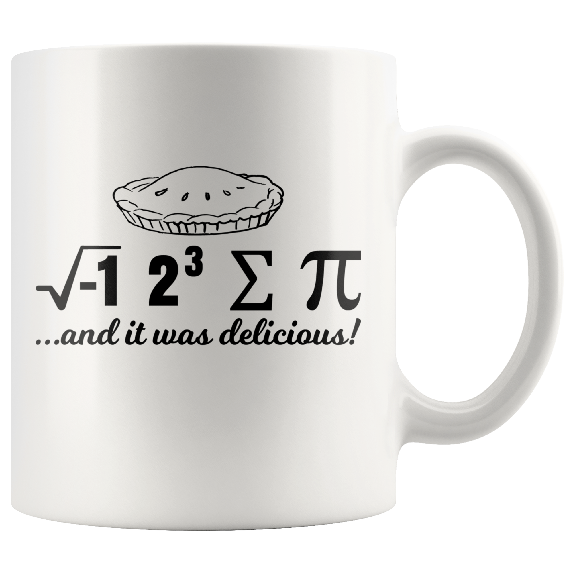 I Ate Some Pie… And It Was Delicious Math Geek Funny Mug