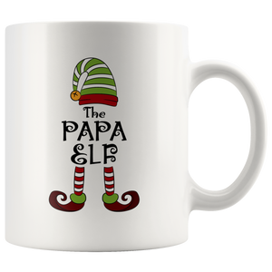 I'm The Papa Elf Group Matching Family Christmas Coffee Mug 11 oz