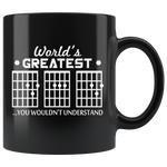 Guitar Chord Worlds Greatest Dad Ceramic Mug