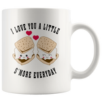 Anniversary Gift - I Love You A Little S'More Everyday Valentines Gift Coffee Mug 11 oz