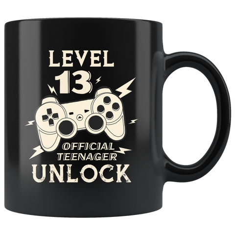 Level 13 Official Teenager Unlock Gamer Controller Ceramic Coffee Mug 11oz