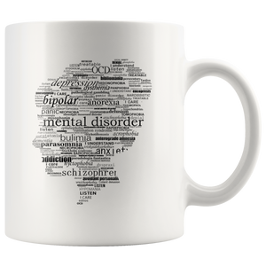 Mental Health Illnesses Raise Awareness Coffee Mug