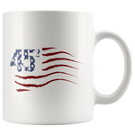 Pro Trump Political Gifts - 45 Squared Squad USA 2020 White Coffee Mug 11 oz