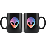 Alien Head Outer Space UFO Extraterrestrial Geek Gift Coffee Mug 11 oz