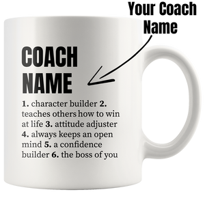 Customized Coach Definition Mug For Trainor Instructor Coffee Cup 11oz