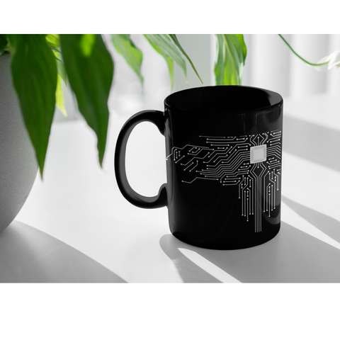 Funny Computer Technician Gifts CPU Motherboard Coffee Mug 11 oz