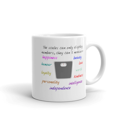 Inspiring Statement Gifts - Scales Can't Measure Happiness Eating Disorder Coffee Mug 11 oz