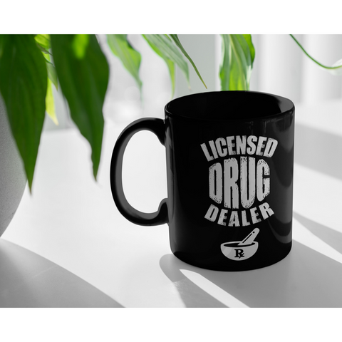 Licensed Drug Dealer Rx Pharmacist Pharma Grad Coffee Mug 11oz