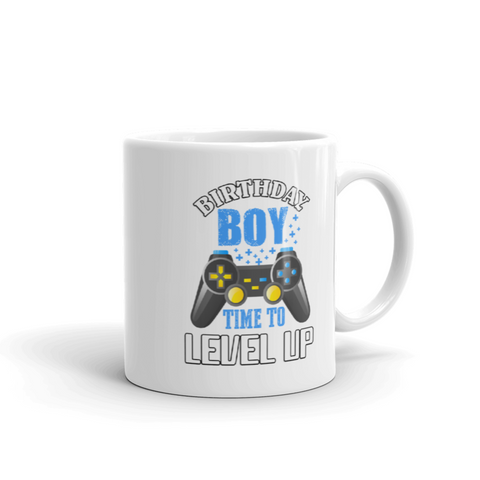 Gamer Gift Birthday Boy Video Game Time To Level Up Gaming White Coffee Mug 11 oz