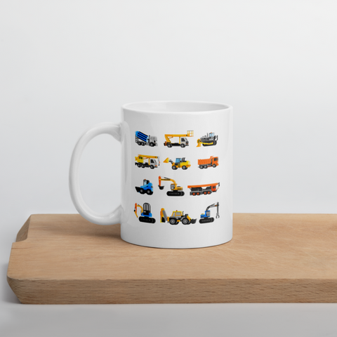 Heavy Equipment - Construction Excavator Excavation Party Presents Coffee Mug 11 oz